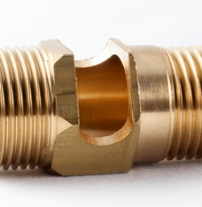 Precision Machined Brass Valve Image - Close Up Detail