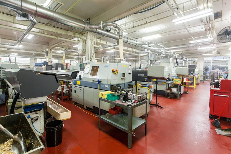 Eurotech Machines Shop Floor