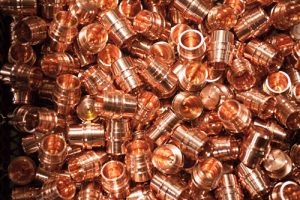 copper cnc machined parts